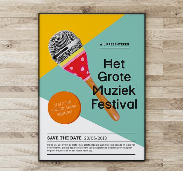 Het Grote Muziekfestival poster